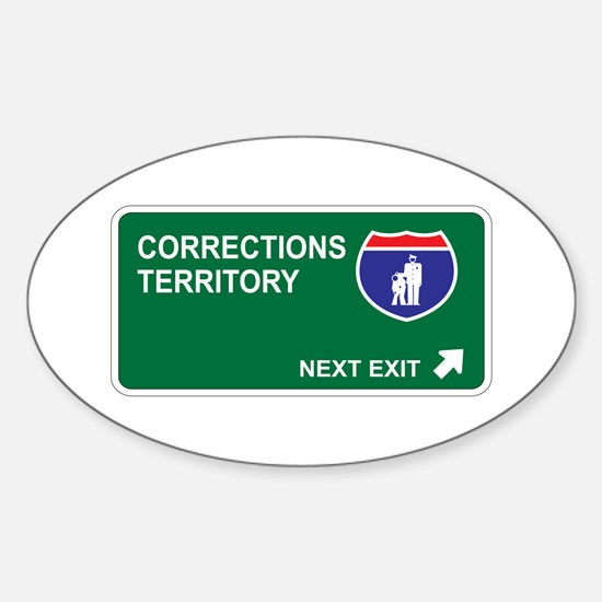 Corrections Territory Oval Decal