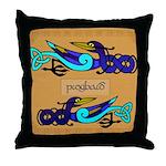 Pioghaid (Magpie) - Celtic Art Throw Pillow