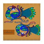 Coileach (Peacock) - Celtic Art Tile Coaster