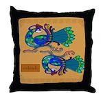 Coileach (Peacock) - Celtic Art Throw Pillow