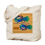 Coileach (Peacock) - Celtic Art Tote Bag