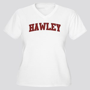 HAWLEY Design Women's Plus Size V-Neck T-Shirt