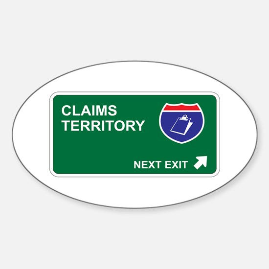 Claims Territory Oval Decal