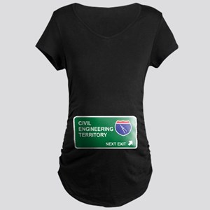 Civil, Engineering Territory Maternity Dark T-Shir