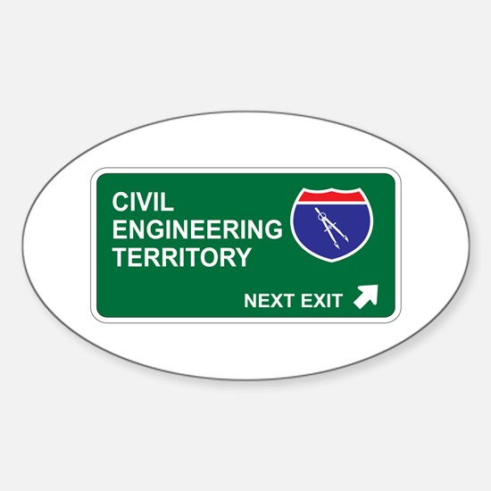 Civil, Engineering Territory Oval Decal
