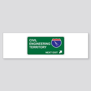 Civil, Engineering Territory Bumper Sticker