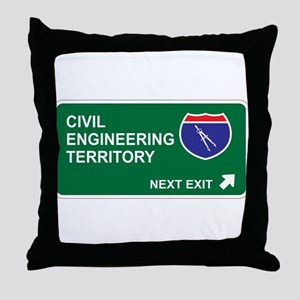 Civil, Engineering Territory Throw Pillow