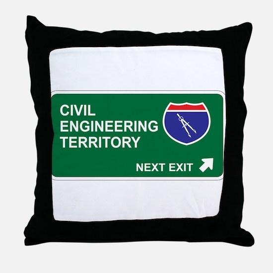 Civil, Engineering Territory Throw Pillow