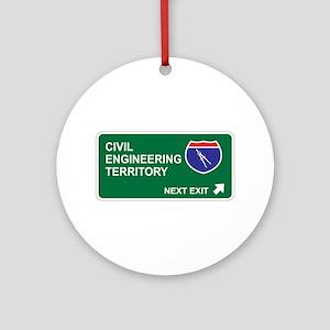 Civil, Engineering Territory Ornament (Round)