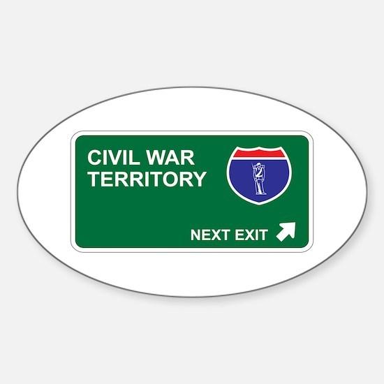 Civil War Territory Oval Decal