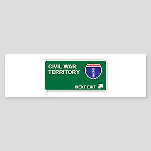 Civil War Territory Bumper Sticker