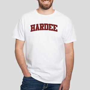 HARDEE Design White T-Shirt