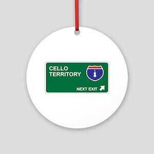 Cello Territory Ornament (Round)