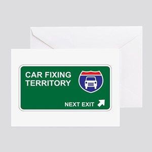 Car Fixing Territory Greeting Card