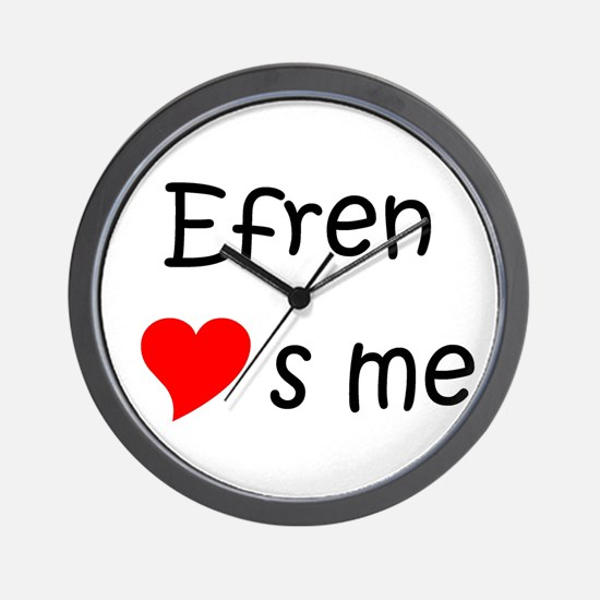 Unique Efren Wall Clock