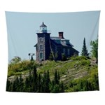 Huron Island Lighthouse Wall Tapestry