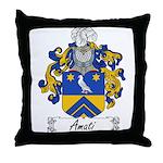 Amati Family Crest Throw Pillow
