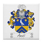 Amati Family Crest Tile Coaster
