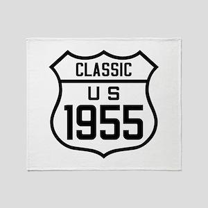 Classic US 1955 Throw Blanket