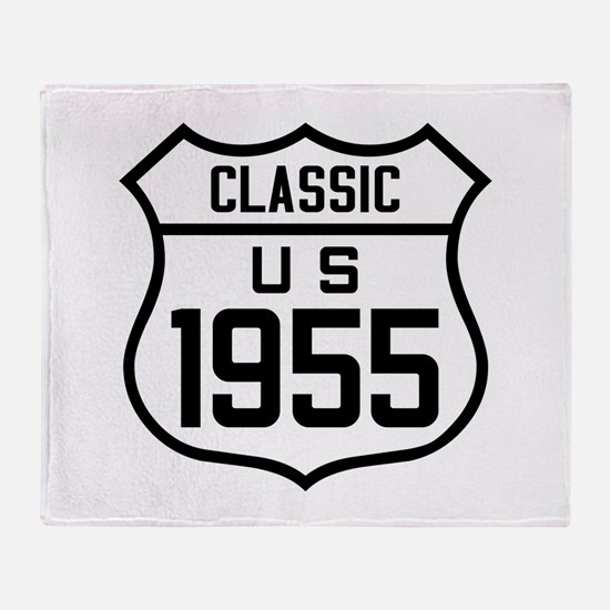 Classic US 1955 Throw Blanket