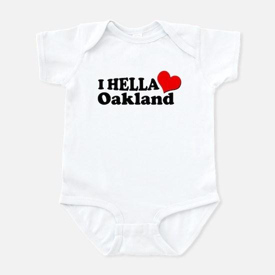 I HELLA LOVE / HEART OAKLAND Infant Bodysuit