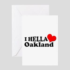 I HELLA LOVE / HEART OAKLAND Greeting Card