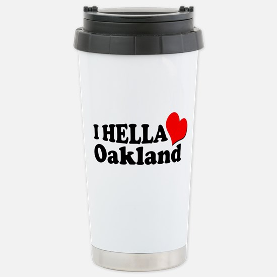 I HELLA LOVE / HEART OAKLAND Stainless Steel Trave
