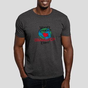 World's Greatest Grandpop Dark T-Shirt