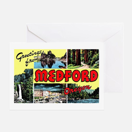 Medford Oregon Greetings Greeting Card