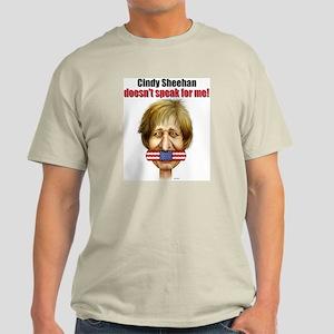Cindy Sheehan doesn't speak f Ash Grey T-Shirt