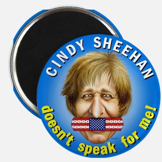 "Cindy Sheehan doesn't speak f 2.25"" Magnet (10 pac"
