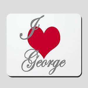 I love (heart) George Mousepad