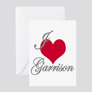 I love (heart) Garrison Greeting Card