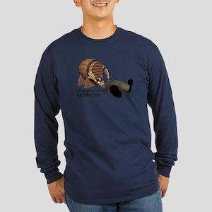 Beer Keg Drinker Long Sleeve Dark T-Shirt