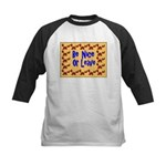 Be Nice or Leave Kids Baseball Jersey