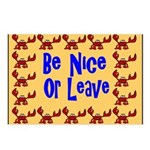 Be Nice or Leave Postcards (Package of 8)