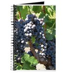 Wine Journal with Wine grapes