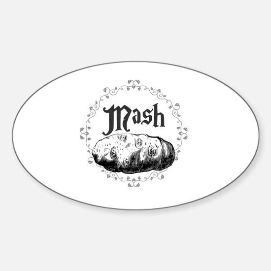 Cute Mashed potatoes Sticker (Oval)