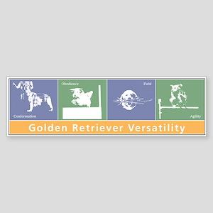 Golden Versatility Bumper Sticker