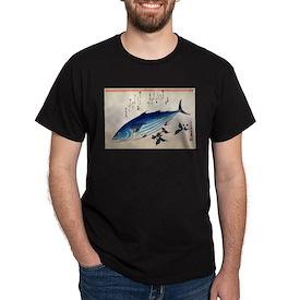 Hiroshige Katsuo Skipjack Tuna Japanese Wo T-Shirt
