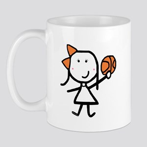 Girl & Basketball Mug