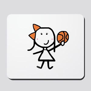 Girl & Basketball Mousepad