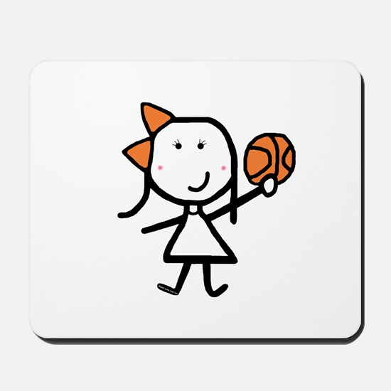 Girl & Basketball Mousepad