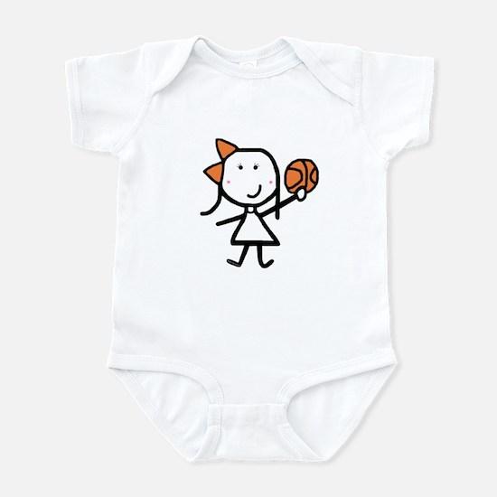 Girl & Basketball Infant Bodysuit
