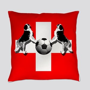 Swiss Football Flag Everyday Pillow