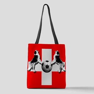 Swiss Football Flag Polyester Tote Bag