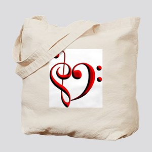 Clef Heart Tote Bag