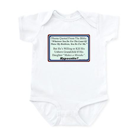 """""""Hypocrite?"""" Infant Bodysuit"""