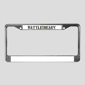Battle Ready License Plate Frame