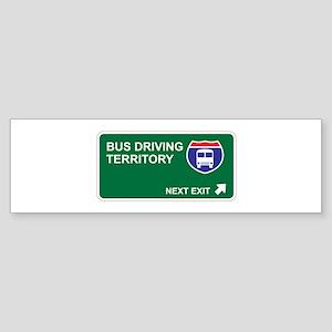 Bus Driving Territory Bumper Sticker